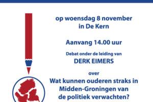 Ouderenrad Verkiezingsdebat Poster